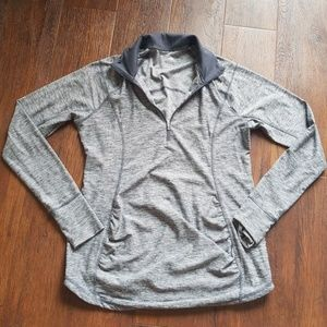 Old Navy maternity gray 1/4 zip workout pullover